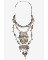 Nasty Gal | Metallic Amanti Tiered Necklace | Lyst