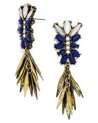 BaubleBar | Blue 'fringe Fir' Drop Earrings | Lyst