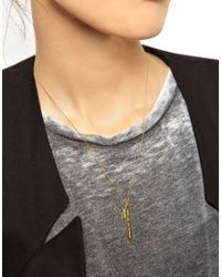 ASOS - Metallic Wear That There Sterling Silver Gold Plated Take Me To London Necklace with Gold Star Charm - Lyst