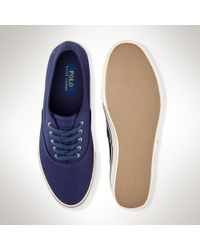 Polo Ralph Lauren - Blue Canvas Sneaker for Men - Lyst