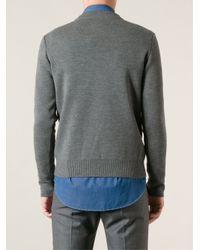 AMI - Gray Mock Neck Sweater for Men - Lyst