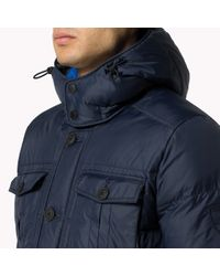 Tommy Hilfiger | Blue Down Bomber for Men | Lyst