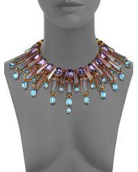 House of Lavande Metallic Oceana Crystal Collar Necklace