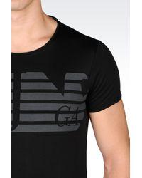 Armani Jeans   Black T-shirt In Cotton Interlock for Men   Lyst