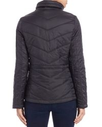 Guess | Black Packable Quilted Jacket | Lyst
