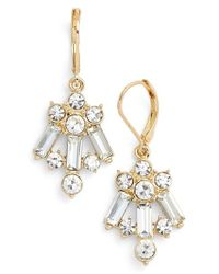 Anne Klein | Metallic Cluster Drop Earrings | Lyst