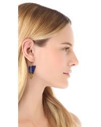 Gemma Redux Blue Stone Earrings