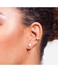 Dutch Basics - Pink Ear Cuff Rose Gold - Lyst