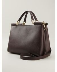 Dolce & Gabbana | Purple Medium 'Sicily East/West' Tote | Lyst