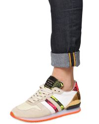 Serafini - Multicolor 20mm Leather Python Print Sneakers for Men - Lyst