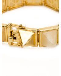Eddie Borgo - Metallic Gemstone Large Pyramid Bracelet - Lyst
