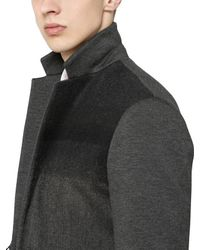 Antonio Marras Gray Gradient Wool And Shearling Jacket for men