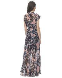 Rebecca Taylor Multicolor Splashy Flower Maxi Dress