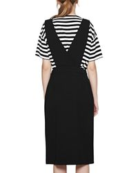 French Connection - Black Sundae Suiting Pinafore Dress - Lyst