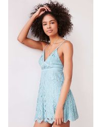 Kimchi Blue Blue Valentina Empire Lace Mini Dress