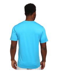 Quiksilver Blue Solid Streak Short Sleeve Rashguard Surf Tee for men