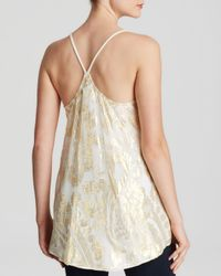 Ella Moss Natural Tank - Reina Metallic