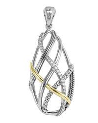 Lagos - Metallic Unlaced Diamond & Caviar™ Pendant - Lyst