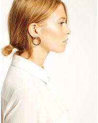 ASOS | Metallic Smooth Circle Hoop Earrings | Lyst