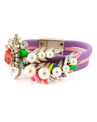 Shourouk | Purple 'tube Aigrette' Bracelet | Lyst