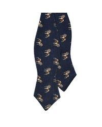 Polo Ralph Lauren - Blue Dog-print Wool Bow Tie for Men - Lyst