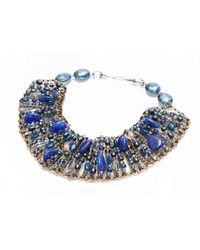 Nakamol | Multicolor Elegant Beaded Necklace-lapis Mix #2 | Lyst