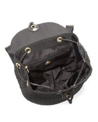 Tory Burch - Black Fleming Nylon Small Quilted Nylon Backpack - Lyst