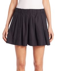 Marc Jacobs - Black Pleated Cotton Poplin Shorts - Lyst