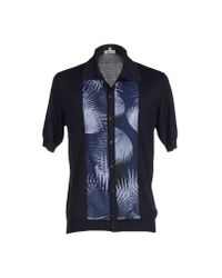 Façonnable - Blue Cardigan for Men - Lyst