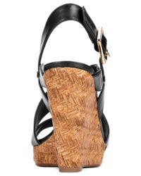 Jessica Simpson Jerrimo Platform Wedge Sandals In Black Lyst
