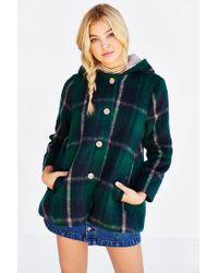 BB Dakota - Green Kellen Plaid Sherpa-hood Jacket - Lyst