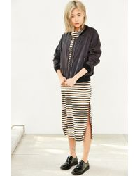 Glamorous | Natural Ribbed Stripe Midi Dress | Lyst