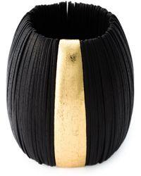 Monies Black Discs Oversized Cuff