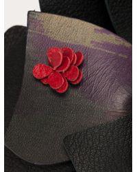 Elie Saab | Black Printed Flower Pendant | Lyst