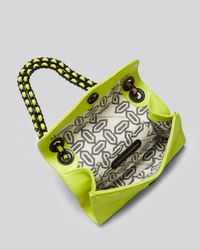 Rebecca Minkoff Shoulder Bag Acid Yellow Quilted Mini Affair