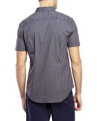 John Varvatos | Blue Luxe Gingham Shirt for Men | Lyst
