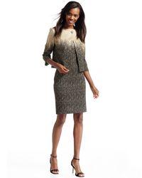 St. John - Metallic Ombre Sheath Dress - Lyst
