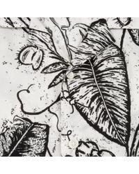 Paul Smith - Men's Classic-fit White 'venus Fly-trap' Print Short-sleeve Shirt for Men - Lyst