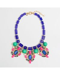 J.Crew - Multicolor Factory Stone and Crystal Statement Necklace - Lyst