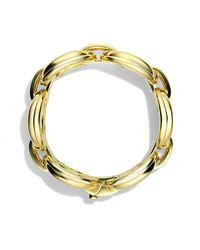 David Yurman   Metallic Oval Large Link Bracelet With Diamonds In Gold   Lyst