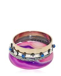 Iosselliani - Purple Ink Me Up Set-Bracelet - Lyst