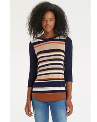 Oasis Multicolor Breton Stripe Sweater Jumper