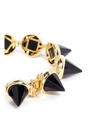 Eddie Borgo | Metallic Faceted Gemstone Cone Bracelet | Lyst