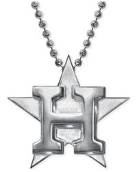 Alex Woo | Metallic Mlb Collection By Sterling Silver Houston Astros Pendant Necklace | Lyst
