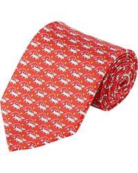 Ferragamo - Red Dog-print Necktie for Men - Lyst