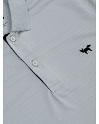 Wolsey Gray Shadow Stripe Regular Fit Polo Shirt for men