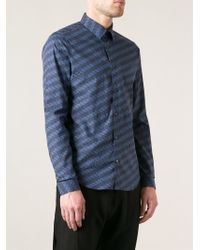 KENZO Blue 'graphic Trees' Shirt for men