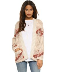 Free People | Natural Time And Again Cardigan - Indigo Combo | Lyst