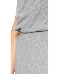 Bobi - Gray Strapless Jumpsuit - Lyst