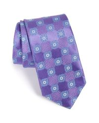 John W. Nordstrom | Purple 'wolfe Medallion' Silk Tie for Men | Lyst